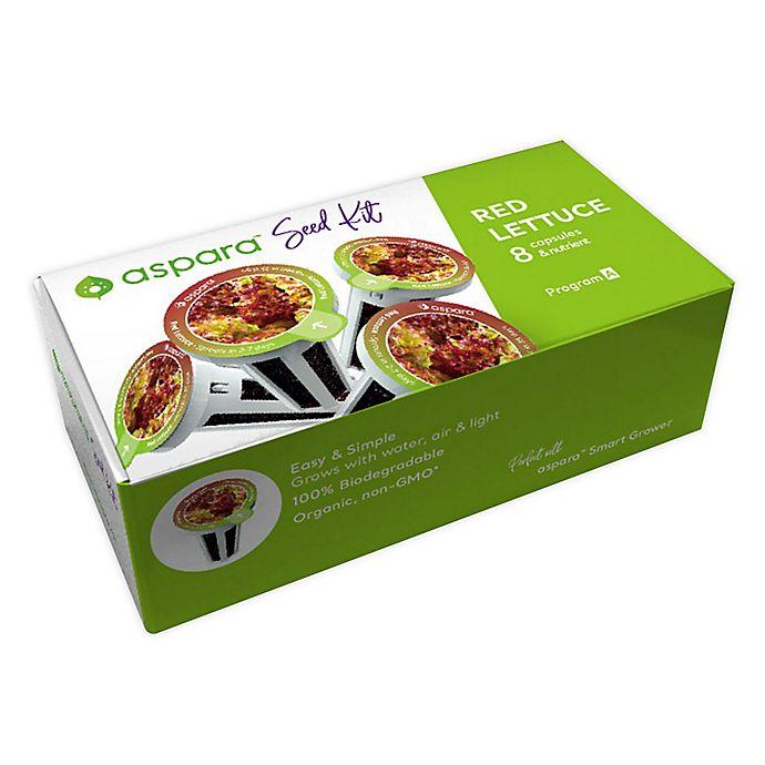 Alternate image 1 for aspara Red Lettuce 8 Capsule Seed Kit