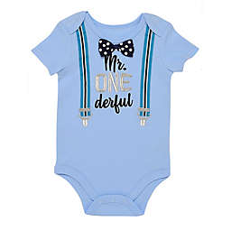 Start-up Kids® 2-Piece Let's Celebrate Bodysuit and Bow Tie Set in Blue