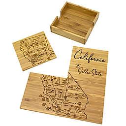 Totally Bamboo California Puzzle 5-Piece Coaster Set