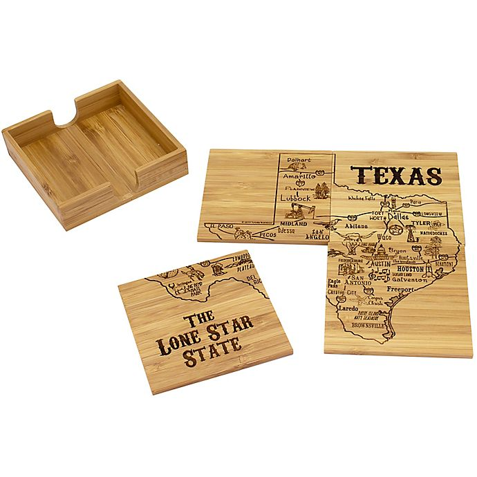Totally Bamboo Texas Puzzle 5 Piece Coaster Set Bed Bath Beyond