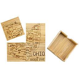 Totally Bamboo Ohio Puzzle 5-Piece Coaster Set