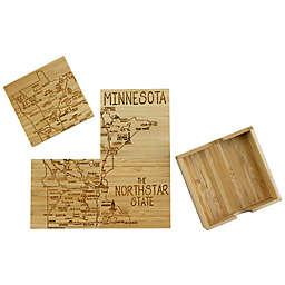 Totally Bamboo Minnesota Puzzle 5-Piece Coaster Set