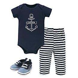 Hudson Baby® 3-Piece Captain Bodysuit, Pant and Sneaker Set