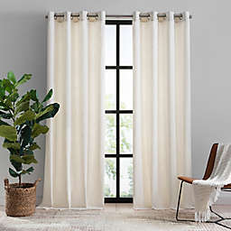Mercantile Hawthorne 84-Inch Grommet Light Filtering Lined Window Curtain Panel in Snow