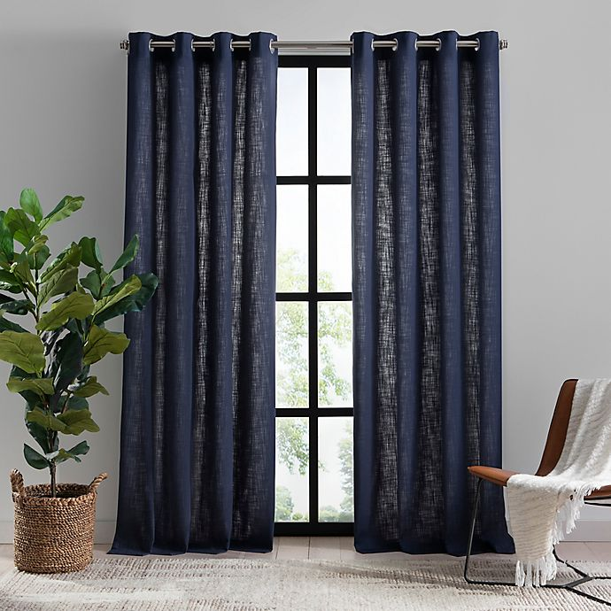 Alternate image 1 for Mercantile Hawthorne Grommet Light Filtering Lined Window Curtain Panel (Single)
