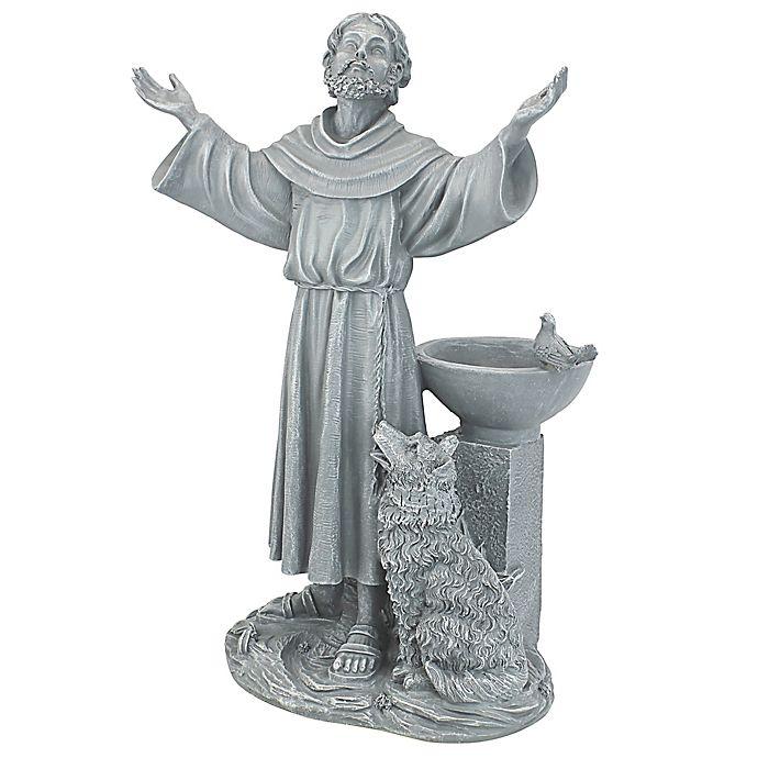 Alternate image 1 for Design Toscano St. Francis Garden Blessing Bird Bath in Grey