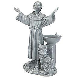 Design Toscano St. Francis Garden Blessing Bird Bath in Grey