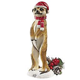 Design Toscano Merry Meerkat Holiday Greeter Statue