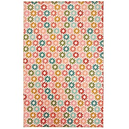 Prismatic Enchanted Floral 3'4 x 5' Area Rug in Pink