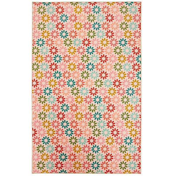 Alternate image 1 for Prismatic Enchanted Floral 3'4 x 5' Area Rug in Pink