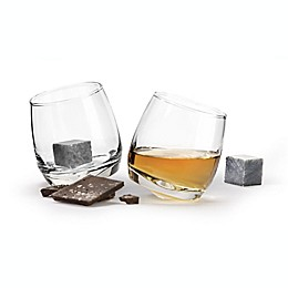 Sagaform® Club Rocking Tumblers with Drink Stones (Set of 2)