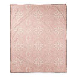 Pink Tiles Pattern 50x60 Throw Blanket
