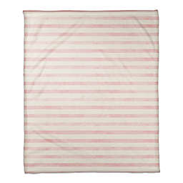 Designs Direct Watercolor Blush Stripes Throw Blanket in Pink