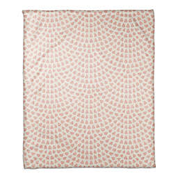 Designs Direct Watercolor Droplets Throw Blanket in Pink