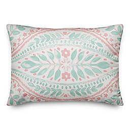 Designs Direct Solid Mint Design Square Throw Pillow in Pink