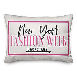 Designs Direct New York Fashion Week Rectangular Throw Pillow in Pink