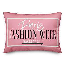 Paris Fashion Week Design 14x20 Throw Pillow