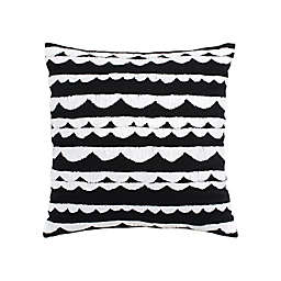 kate spade new york Scallop Row Square Throw Pillow in Navy