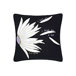 kate spade new york Falling Flowers Square Throw Pillow in Black