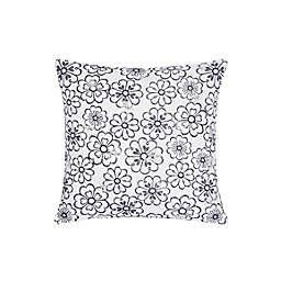 kate spade new york Heart Garden Square Throw Pillow in White/Blue