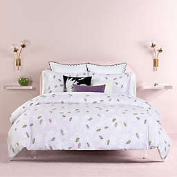 kate spade new york Falling Flowers 2-Piece Reversible Comforter Set in Lavender