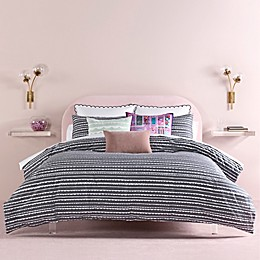 kate spade new york Scallop Row 2-Piece Twin XL Comforter Set in Charcoal