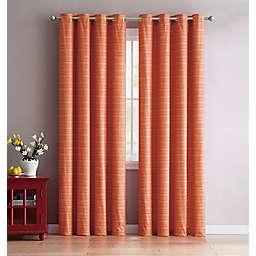 VCNY Home Livingston 84-Inch Grommet Room Darkening Window Curtain Panel in Rust