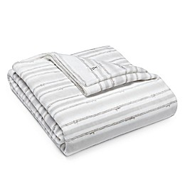 ED Ellen DeGeneres™ Block Stripe Ultra Soft Plush Blanket in Soft Grey