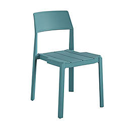 Novogratz Chandler Stackable Patio Dining Chairs in Turquoise (Set of 4)