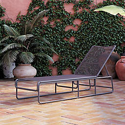 CosmoLiving Nyla Outdoor Chaise Lounge in Charcoal