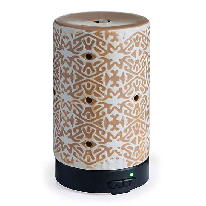 Alternate image 1 for Airomé Terracotta Medium Ultrasonic Essential Oil Diffuser in Tan