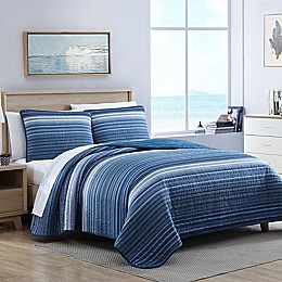 Nautica® Coveside Quilt Set in Blue
