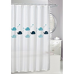 Moda at Home Whales Shower Curtain in Blue