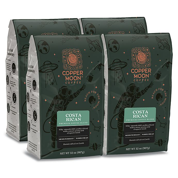 Alternate image 1 for Copper Moon® Coffee Costa Rican Premium Blend 2 lb. Whole Bean Coffee (4-Pack)
