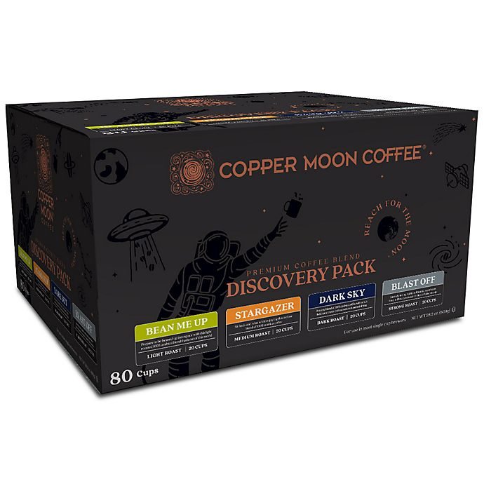 Alternate image 1 for Copper Moon® Coffee Discovery Pack Premium Blend Single Serve Pods 80-Count