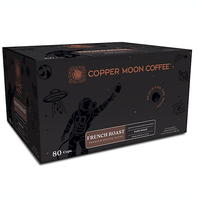 Alternate image 1 for Copper Moon® Coffee French Roast Premium Blend Single Serve Pods 80-Count