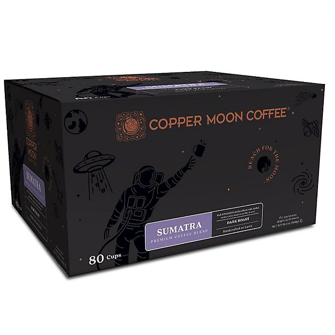 Alternate image 1 for Copper Moon® Coffee Sumatra Premium Blend Pods for Single Serve Coffee Makers 80-Count