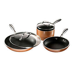 Gotham™ Steel Copper Cast Textured Nonstick Aluminum 5-Piece Cookware Set