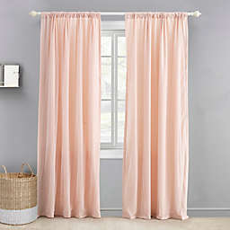 Levtex Baby® Sparkle Overlay 84-Inch Window Curtain Panel in Blush/Gold