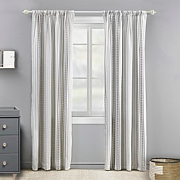 Levtex Baby® Striped 84-Inch Window Curtain Panel in Cream/Charcoal