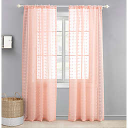 Levtex Baby® Tufted Overlay 84-Inch Window Curtain Panel in Pink