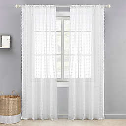 Levtex Baby® Tufted Overlay 84-Inch Window Curtain Panel in White