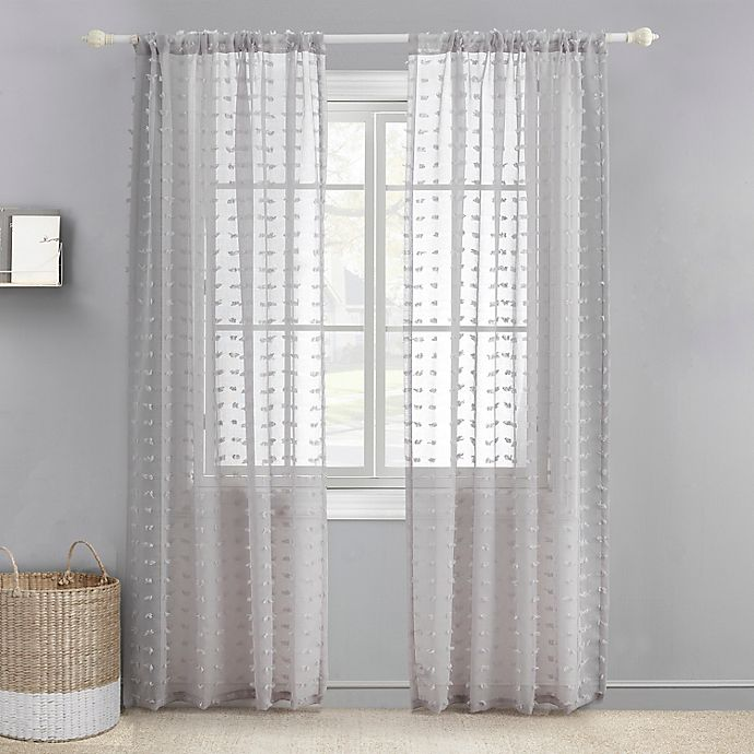 Alternate image 1 for Levtex Baby® Tufted Overlay 84-Inch Window Curtain Panel