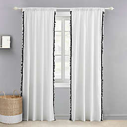 Levtex Baby® Tassel 84-Inch Window Curtain Panel in Black