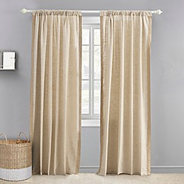 Levtex Baby® Burlap 84-Inch Window Curtain Panel with Trim in Natural