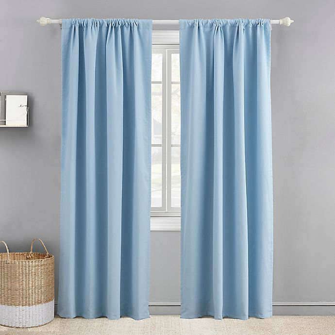 Alternate image 1 for Levtex Baby 84-Inch Blackout Window Curtain Panel in Navy