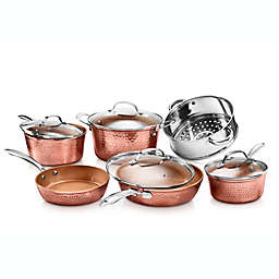 Gotham™ Steel Hammered Nonstick Aluminum 10-Piece Cookware Set in Copper