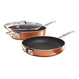 Gotham™ Steel Stackmaster Nonstick Aluminum 3-Piece Cookware Set in Copper/Black