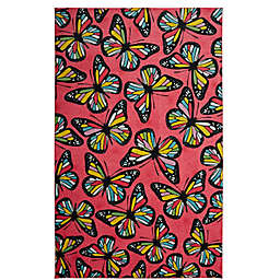 Mohawk® Home Prismatic Midnight Garden 8' x 10' Area Rug in Pink