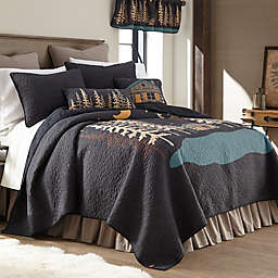 Donna Sharp Moonlit Cabin Quilt in Black